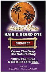 Harvest Moon burgundy henna hair dye