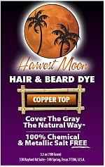 Harvest Moon copper brown henna hair dye