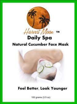 Natural cucumber face mask