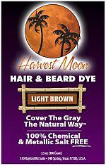 Harvest Moon light brown henna hair dye