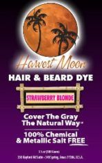 Strawberry blond henna hair dye