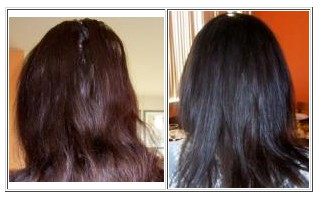 Before and After Mahogany Burgundy Mix