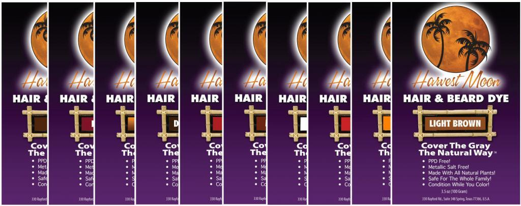 Henna hair dye colors